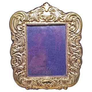 Sterling Vermeil Picture Frame