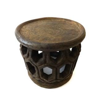 African Geometric Bamileke Stool