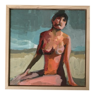 Framed Taboo Beach Figure Mini Acrylic Painting