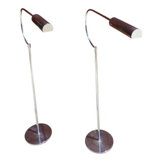 1970's Chrome Floor lamps Pair