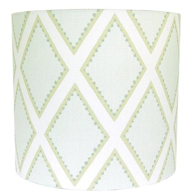 Kravet Celadon Brookhaven Fabric Drum Lamp Shade - Image 3 of 3