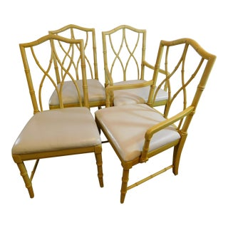 Vintage Thomasville Faux Bamboo Chairs - Set of 4