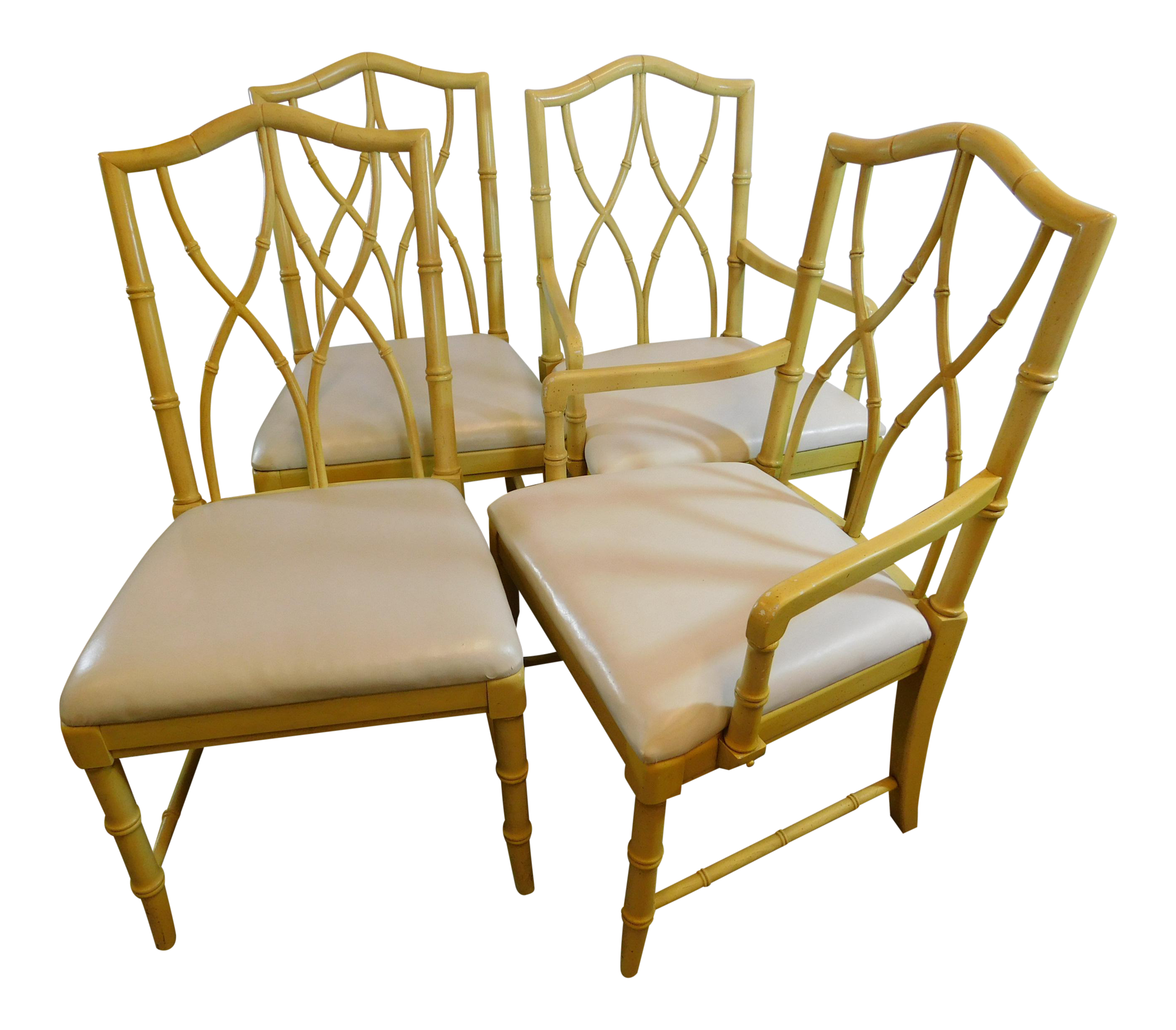 Vintage Thomasville Faux Bamboo Chairs   Set Of 4