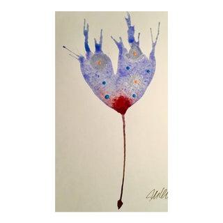Lavender Cranberry Watercolor