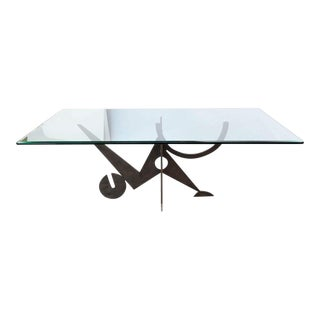Italian Modern Patinated Bronze Dining Table, Pucci Di Rossi