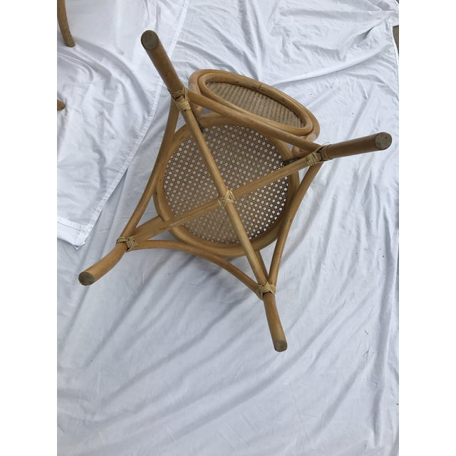 Sheet Cane Bentwood Bistro Chairs - Set of 4 - Image 6 of 10
