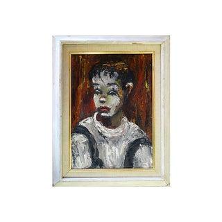 Mid-Century Clown Portrait, C.1950