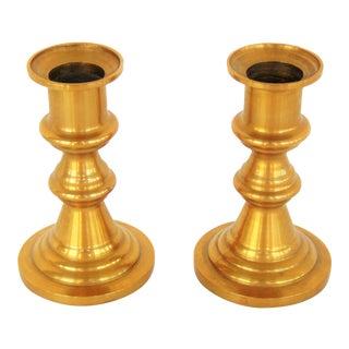 Vintage Brass Candlesticks - A Pair
