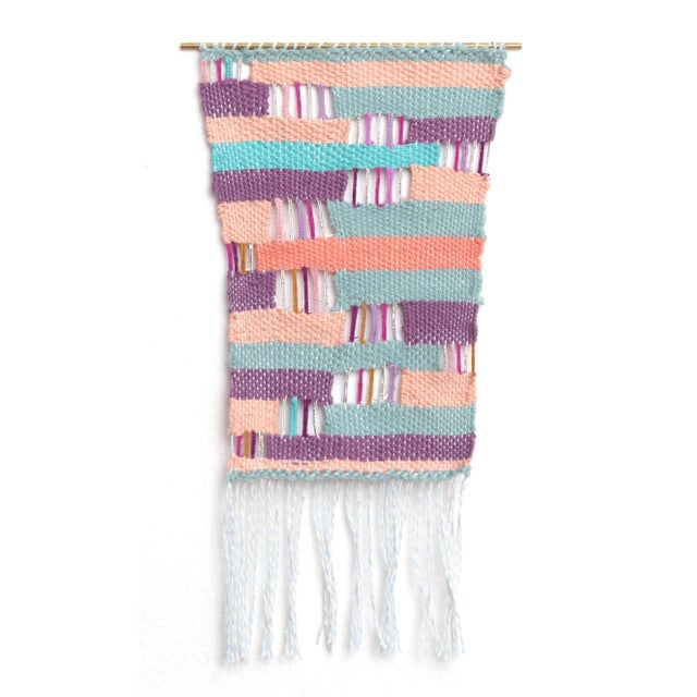 Layered Woven Wall Hanging Textile Art - Image 1 of 2