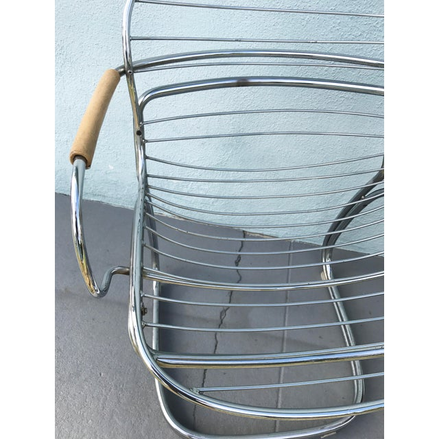 1970s Gastone Rinaldi for Rima Linea Chrome Tubular Chairs - A Pair - Image 8 of 9