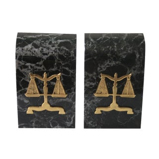 Scales of Justice Bookends - A Pair