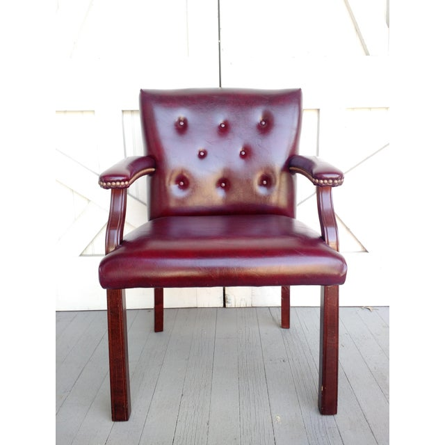 Oxblood Executive Guest Chair - Image 2 of 5