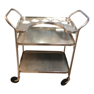 Vintage Aluminum Bar Cart by Kaymet