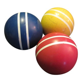 Primary Color Croquet Balls - Set of 3