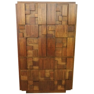 Lane Brutalist Mosaic Highboy Bureau