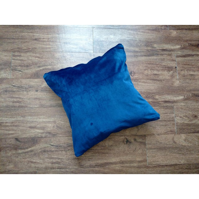 Gambrell Renard Leather & Velvet Pillow - Image 4 of 4
