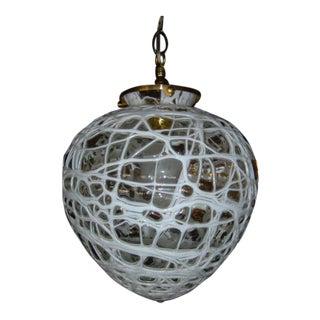 Mid-Century Modern Hanging Globe Lamp