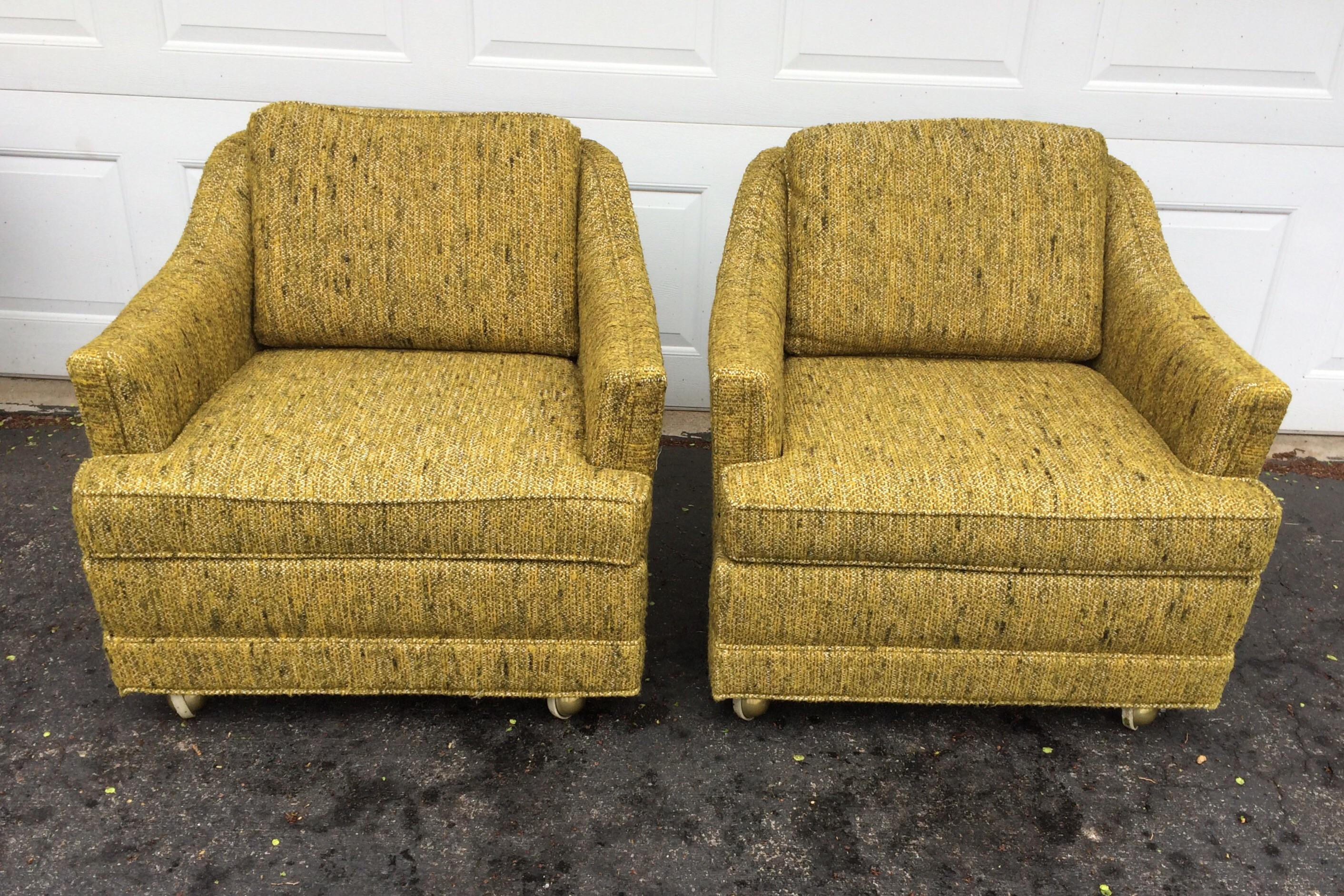 Kroehler Mid Century Modern Lounge Chairs   A Pair   Image 3 Of 11