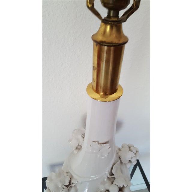 Hollywood Regency Porcelain Grape Cluster Lamp - Image 6 of 7