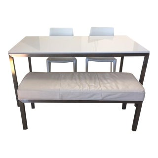 Room & Board Portico Table With Bench & Chairs - Set of 4