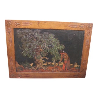 Vintage Lacquer American Indian Scene