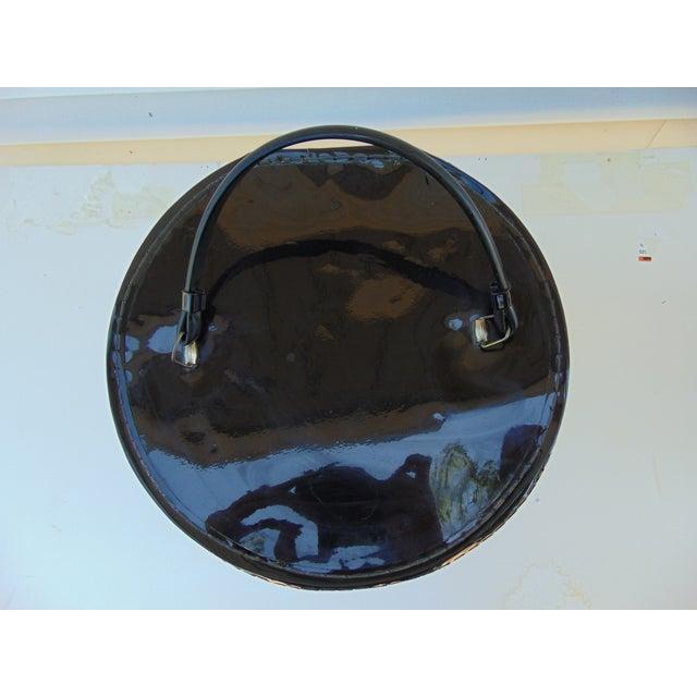 Mid-Century Modern Black Round Hat Box - Image 5 of 6