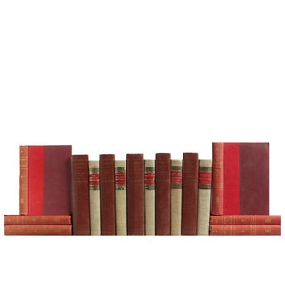 Red & Flax Midcentury Classic Books - Set of 16
