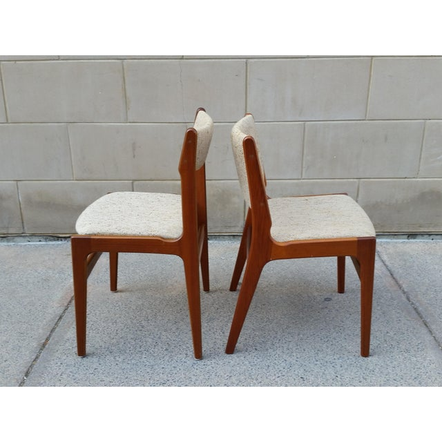 Danish Modern Teak Dining Chairs - A Pair - Image 4 of 7