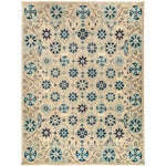 "Image of New Hand-Knotted Suzani Rug - 8'1"" X 10'6"""