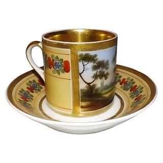 19th C. Paris Porcelain Cup & Saucer