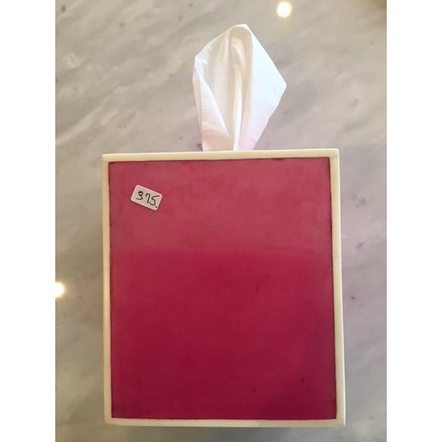 Pink Parchment Tissue Box - Image 3 of 3