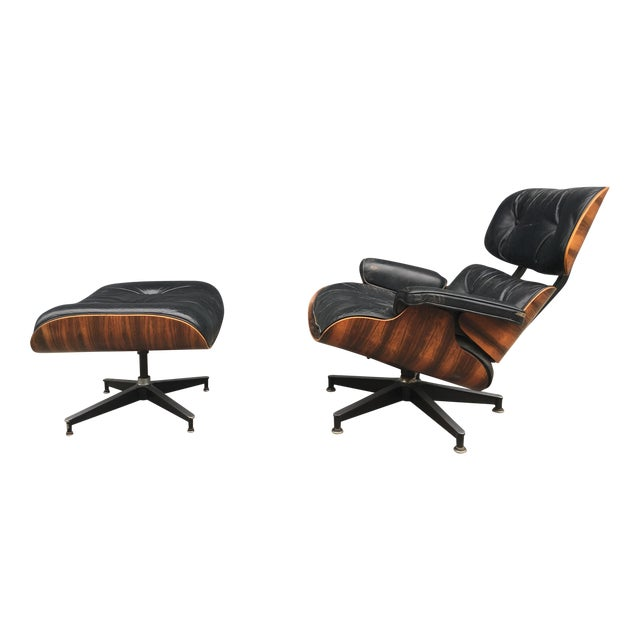 Eames Lounge Chair & Ottoman in Brazilian Rosewood - Image 1 of 10