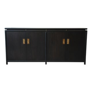 Michael Taylor for Baker Mid-Century Ebonized Chinoiserie Credenza