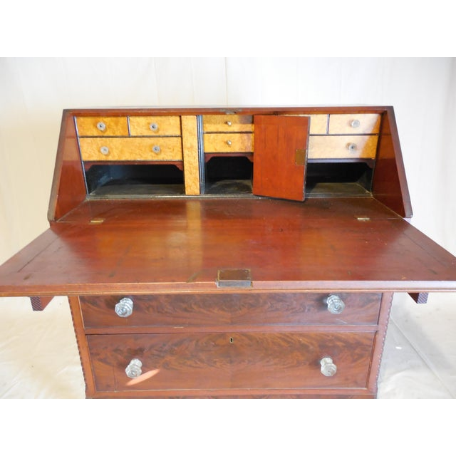 Signed Pennsylvania 1836 Cherry Slant Front Desk - Image 4 of 11
