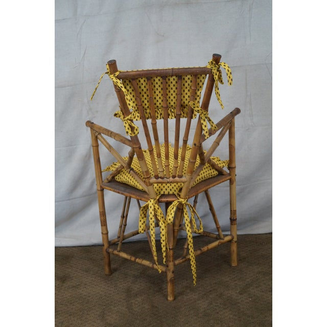 Antique 19th C. Victorian Bamboo Corner Chair - Image 4 of 10