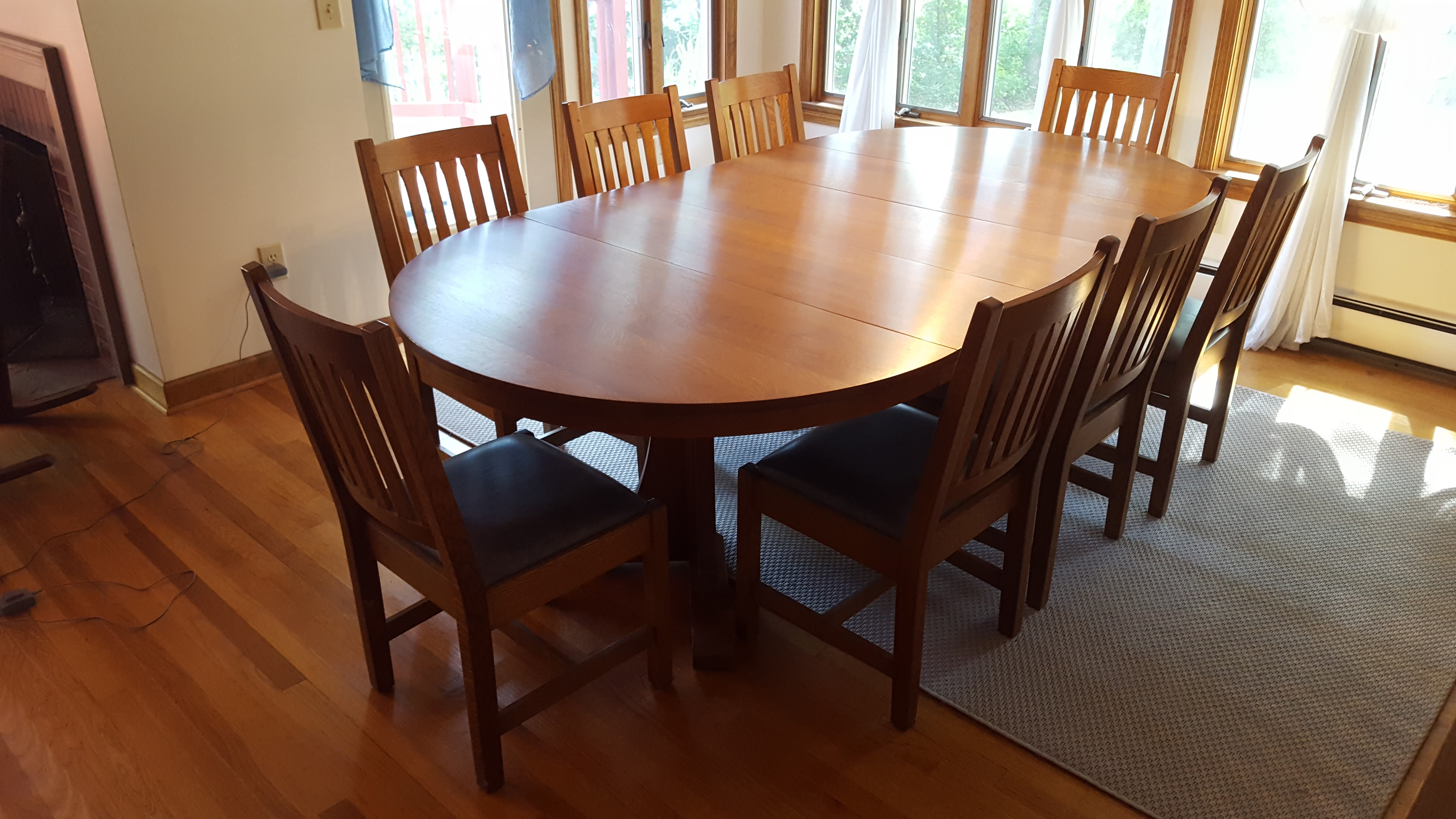 Mission Style Stickley Oak Dining Set Set of 9 Chairish : 8f50a886 0a42 4d25 8e01 21d6ed63f632aspectfitampwidth640ampheight640 from www.chairish.com size 640 x 640 jpeg 43kB