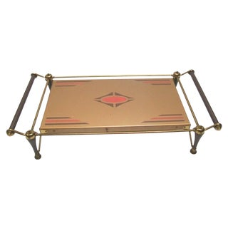 Machine Age Electric Footed Serving Tray