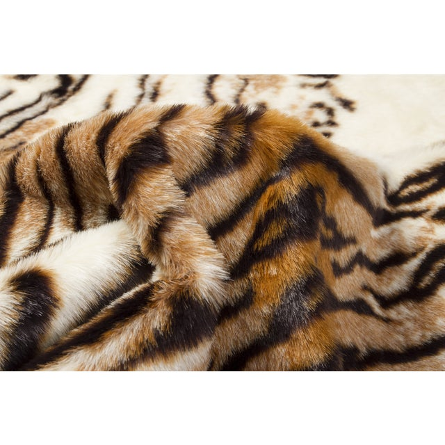 "Faux Tiger Hide Rug/Throw - 4'4"" X 5'"
