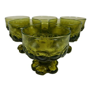 Franciscan Green Madeira Coupes - Set of 6