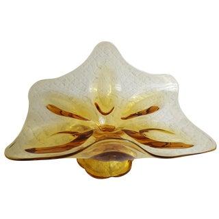 Free-Form Gold Pedestal Platter
