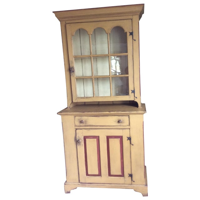 Reproduction Chester County Arched Door Cupboard - Image 1 of 9