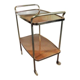 Vintage Mid-Century Bar Serving Tea Cart