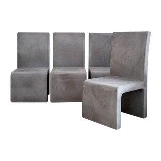 Mock Cement Indoor/Outdoor Chairs - Set of 4