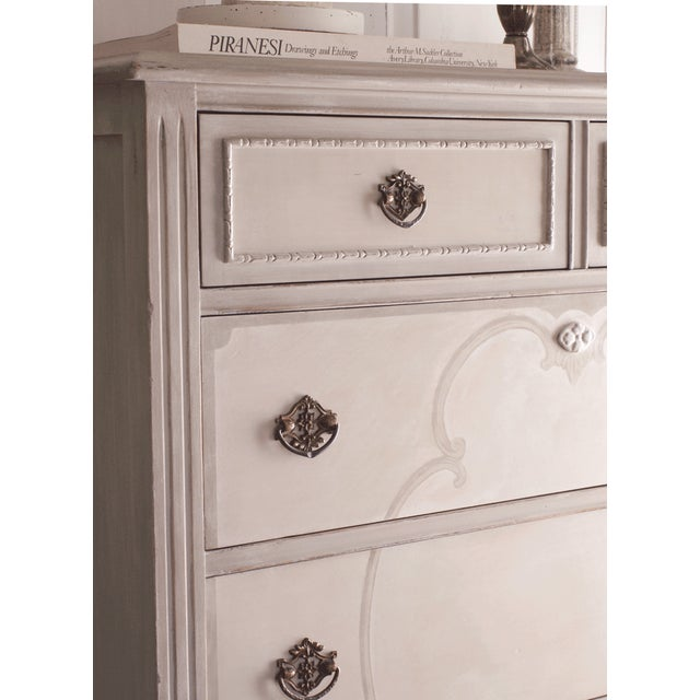 Hand-Painted Vintage Tall Dresser - Image 5 of 10