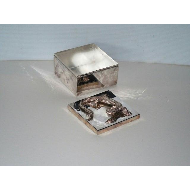 Silvered Metal Lizard Box - Image 5 of 6