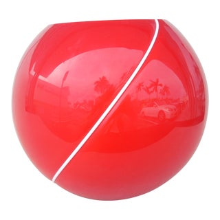 Red Glass Ball Vase