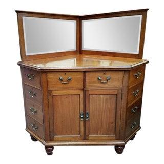 Victorian Mahogany Corner Cabinet w/ Drawers c.1880
