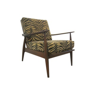 Danish Modern Adrian Pearsall Lounge Zebra Chair
