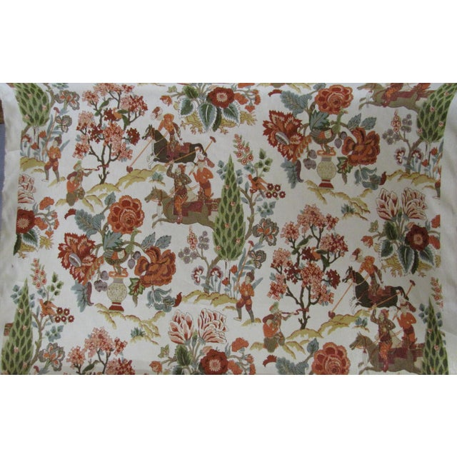 """Persian Lancers"" Schumacher Linen Fabric - 1 Yard - Image 3 of 4"