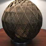Image of Optic Woven Cane Table Lamp